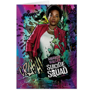 Suicide Squad | Amanda Waller Character Graffiti Card