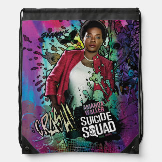 Suicide Squad | Amanda Waller Character Graffiti Drawstring Bag