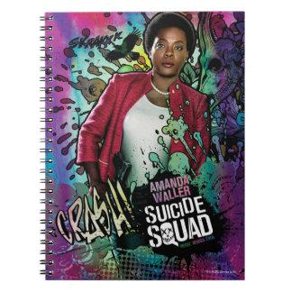 Suicide Squad   Amanda Waller Character Graffiti Spiral Note Book