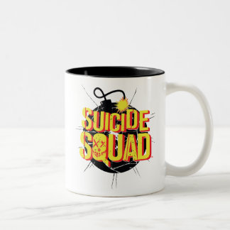 Suicide Squad | Bomb Logo Two-Tone Coffee Mug