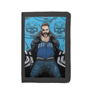 Suicide Squad   Boomerang Comic Book Art Trifold Wallet