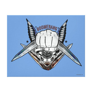 Suicide Squad   Boomerang Fist Tattoo Art Canvas Print