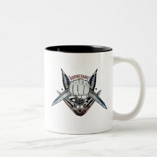 Suicide Squad | Boomerang Fist Tattoo Art Two-Tone Coffee Mug