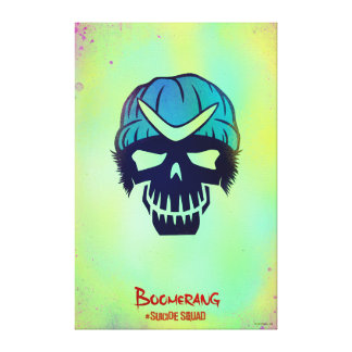 Suicide Squad   Boomerang Head Icon Canvas Print