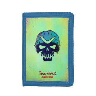 Suicide Squad | Boomerang Head Icon Tri-fold Wallets
