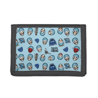 Suicide Squad | Captain Boomerang Emoji Pattern Trifold Wallets