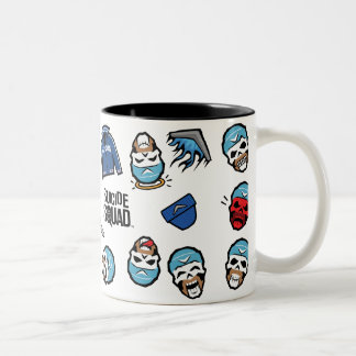 Suicide Squad | Captain Boomerang Emoji Pattern Two-Tone Coffee Mug