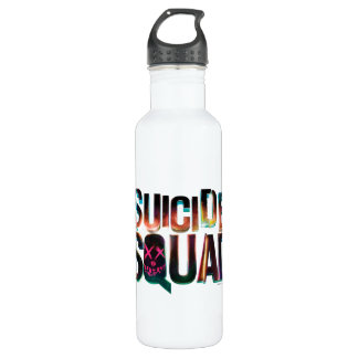 Suicide Squad | Colorful Glow Logo 710 Ml Water Bottle