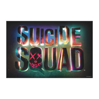 Suicide Squad   Colorful Glow Logo Canvas Print
