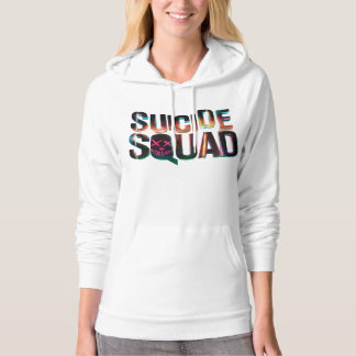 Suicide Squad | Colorful Glow Logo Hoodie
