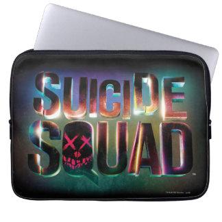 Suicide Squad | Colorful Glow Logo Laptop Sleeve