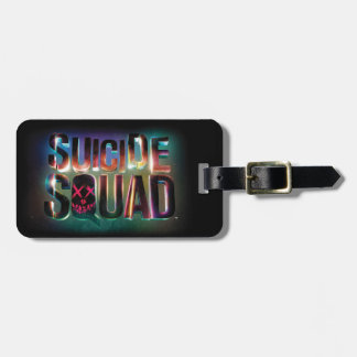 Suicide Squad | Colorful Glow Logo Luggage Tag