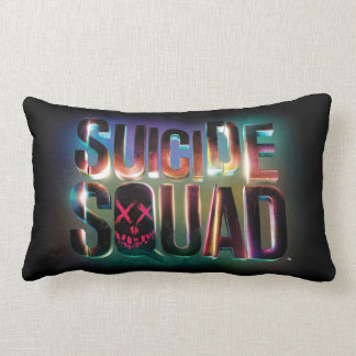 Suicide Squad | Colorful Glow Logo Lumbar Cushion