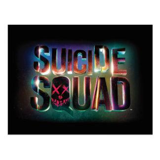 Suicide Squad | Colorful Glow Logo Postcard