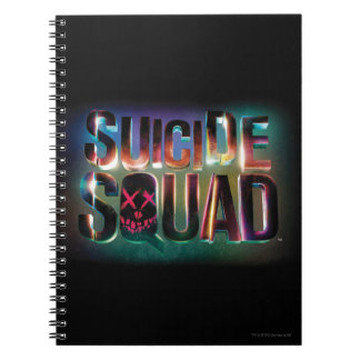 Suicide Squad | Colorful Glow Logo Spiral Notebook