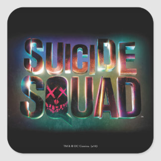 Suicide Squad | Colorful Glow Logo Square Sticker