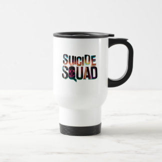 Suicide Squad | Colorful Glow Logo Travel Mug