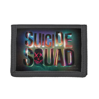 Suicide Squad | Colorful Glow Logo Trifold Wallets