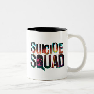 Suicide Squad | Colorful Glow Logo Two-Tone Coffee Mug
