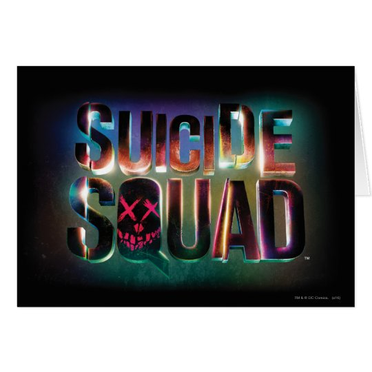 Suicide Squad | Colourful Glow Logo Card