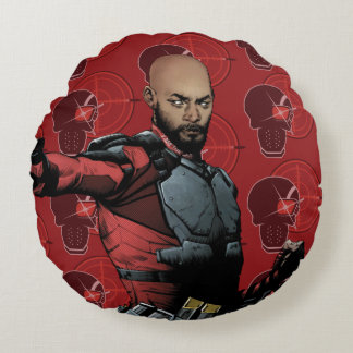 Suicide Squad | Deadshot Comic Book Art Round Cushion