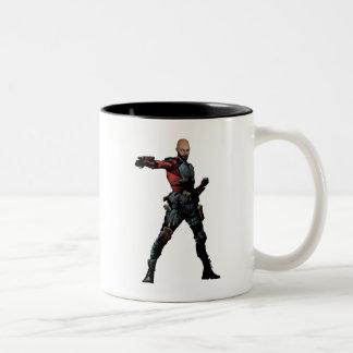 Suicide Squad | Deadshot Comic Book Art Two-Tone Coffee Mug
