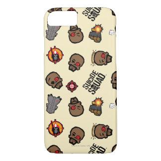 Suicide Squad   Deadshot Emoji Pattern iPhone 8/7 Case
