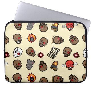 Suicide Squad | Deadshot Emoji Pattern Laptop Sleeve