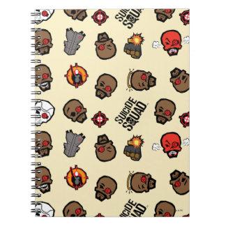 Suicide Squad | Deadshot Emoji Pattern Spiral Notebook