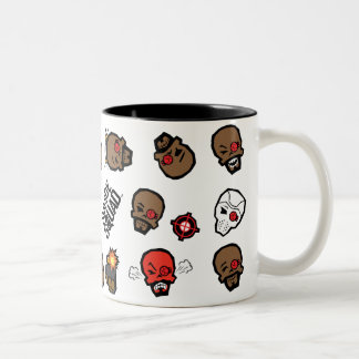 Suicide Squad | Deadshot Emoji Pattern Two-Tone Coffee Mug