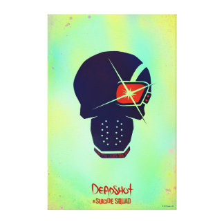 Suicide Squad   Deadshot Head Icon Canvas Print