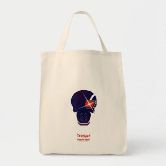 Suicide Squad | Deadshot Head Icon Grocery Tote Bag