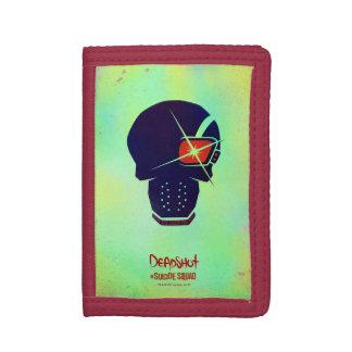 Suicide Squad   Deadshot Head Icon Tri-fold Wallet