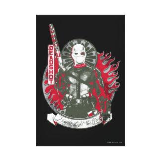 """Suicide Squad   Deadshot """"I am the Light"""" Canvas Print"""