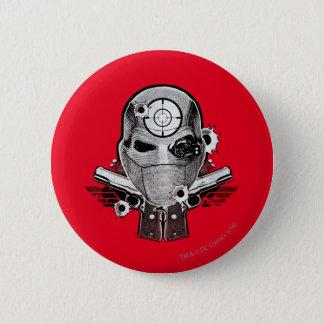 Suicide Squad | Deadshot Mask & Guns Tattoo Art 6 Cm Round Badge