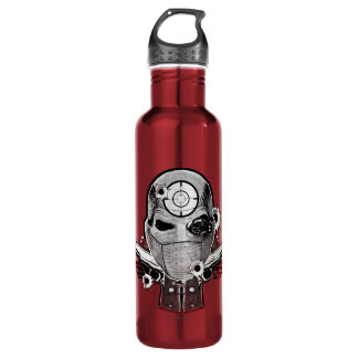 Suicide Squad | Deadshot Mask & Guns Tattoo Art 710 Ml Water Bottle