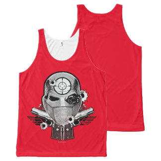 Suicide Squad | Deadshot Mask & Guns Tattoo Art All-Over Print Tank Top