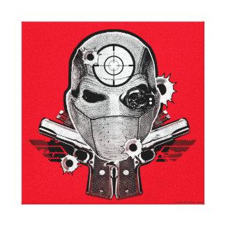 Suicide Squad | Deadshot Mask & Guns Tattoo Art Canvas Print