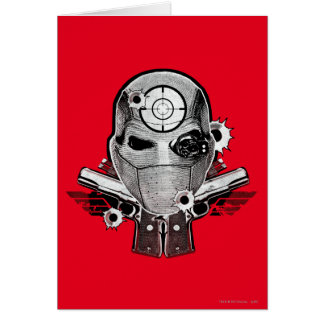 Suicide Squad | Deadshot Mask & Guns Tattoo Art Card