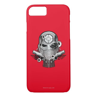 Suicide Squad | Deadshot Mask & Guns Tattoo Art iPhone 8/7 Case
