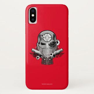 Suicide Squad | Deadshot Mask & Guns Tattoo Art iPhone X Case