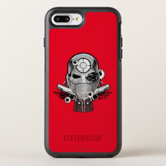 Suicide Squad | Deadshot Mask & Guns Tattoo Art OtterBox Symmetry iPhone 7 Plus Case