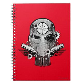 Suicide Squad | Deadshot Mask & Guns Tattoo Art Spiral Notebook