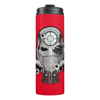 Suicide Squad | Deadshot Mask & Guns Tattoo Art Thermal Tumbler
