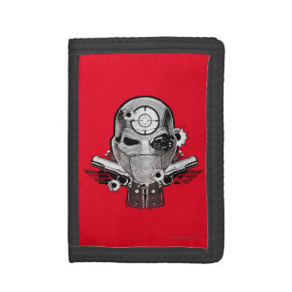 Suicide Squad | Deadshot Mask & Guns Tattoo Art Trifold Wallets