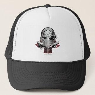 Suicide Squad | Deadshot Mask & Guns Tattoo Art Trucker Hat