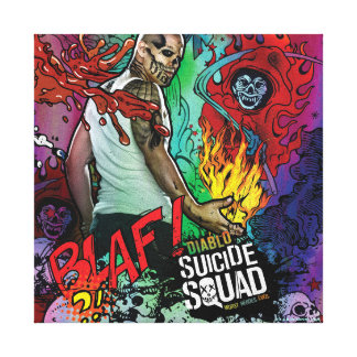 Suicide Squad   Diablo Character Graffiti Canvas Print