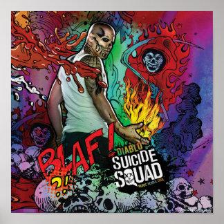 Suicide Squad | Diablo Character Graffiti Poster