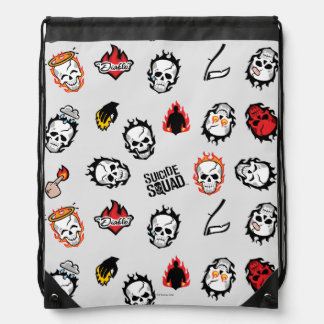 Suicide Squad | Diablo Emoji Pattern Drawstring Bag