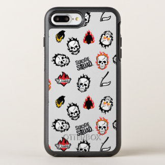 Suicide Squad | Diablo Emoji Pattern OtterBox Symmetry iPhone 8 Plus/7 Plus Case